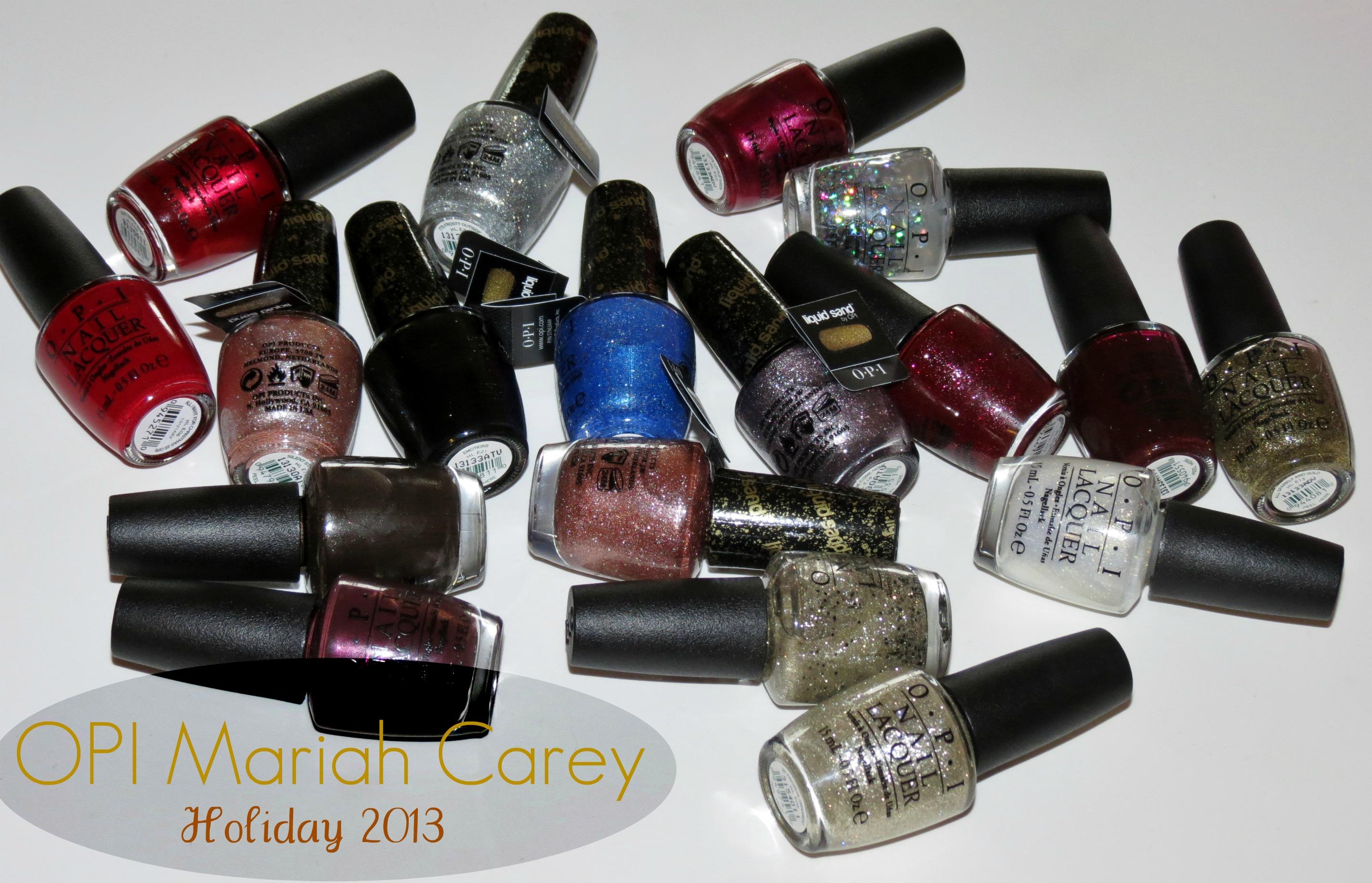 OPI Mariah Carey 2013 Holiday Nail Polish Swatches & Review ...