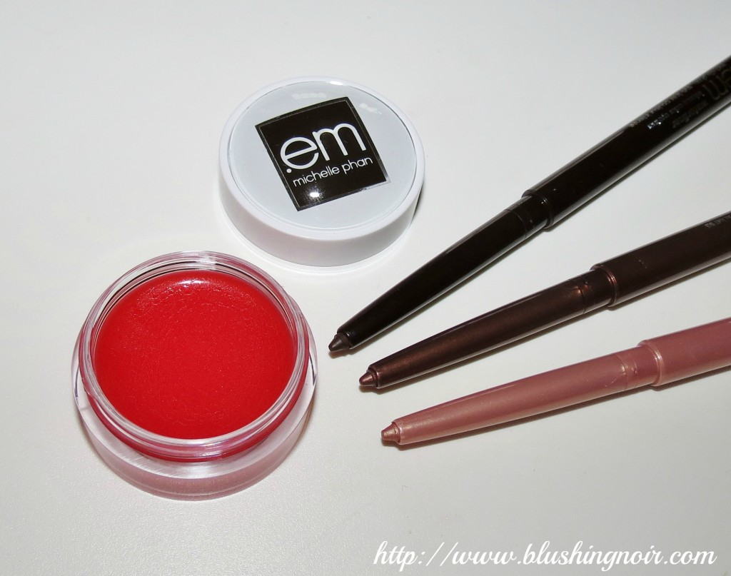 em cosmetics waterliners and pillow plush lip balm