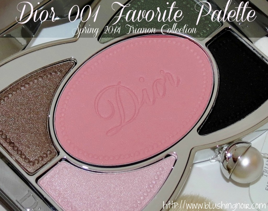 Dior Trianon 001 FAVORITE Makeup Palette Swatches Review FOTD EOTD