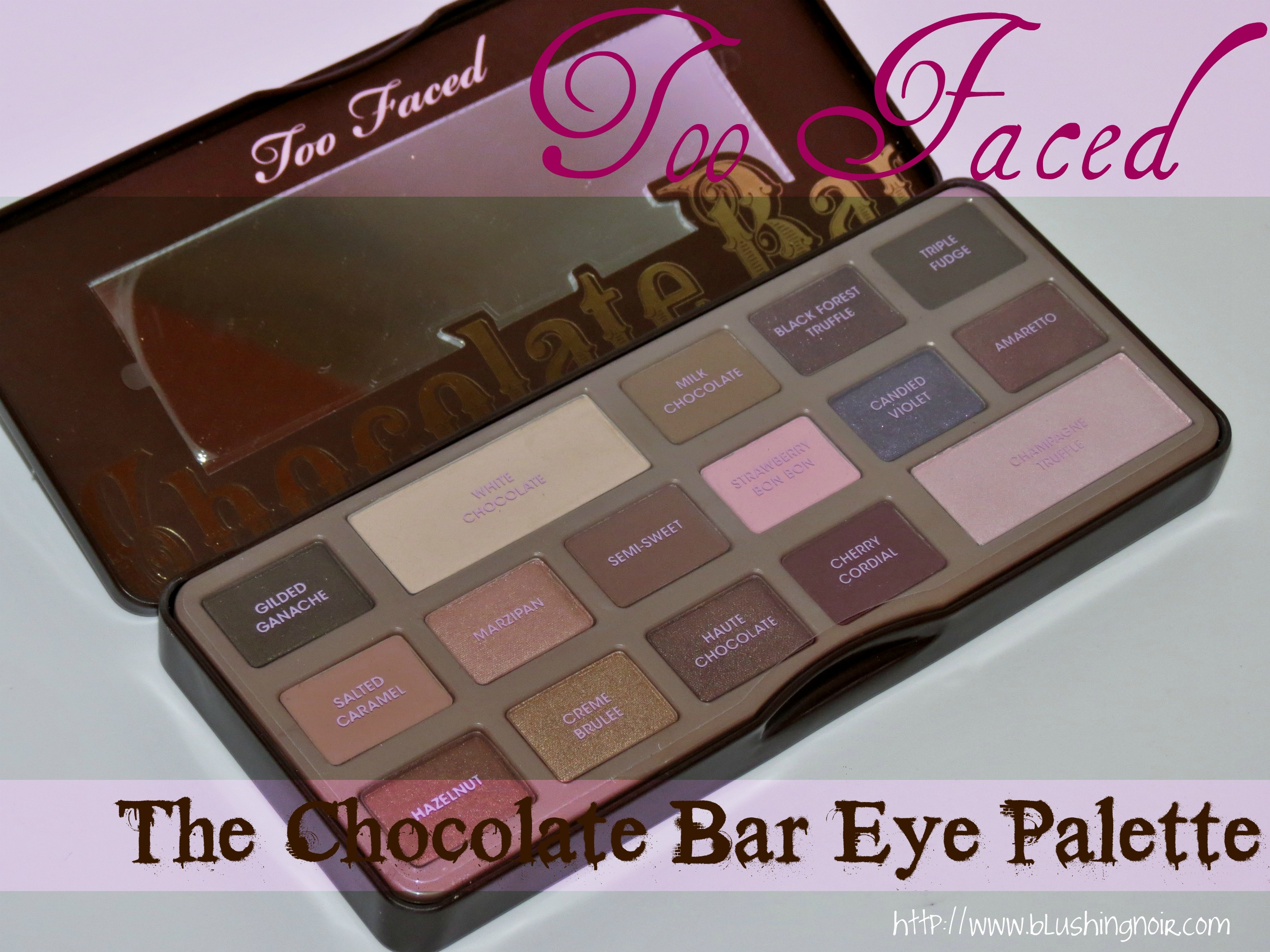 too faced the chocolate bar eye palette swatches review. Black Bedroom Furniture Sets. Home Design Ideas