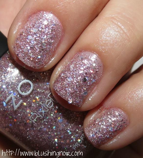 Zoya Lux Nail Polish Swatches - Blushing Noir