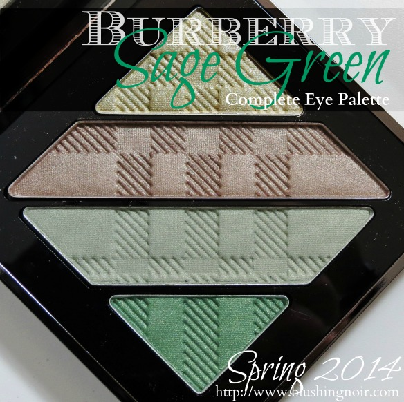 Burberry Sage Green Complete Eye Shadow Palette Swatches Review EOTD