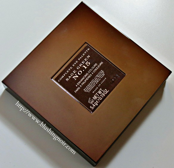 Burberry Sage Green Complete Eye Shadow Palette back