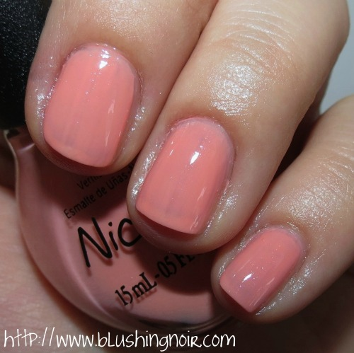 Nicole by OPI I'll Have the Salmon Nail Polish Swatches