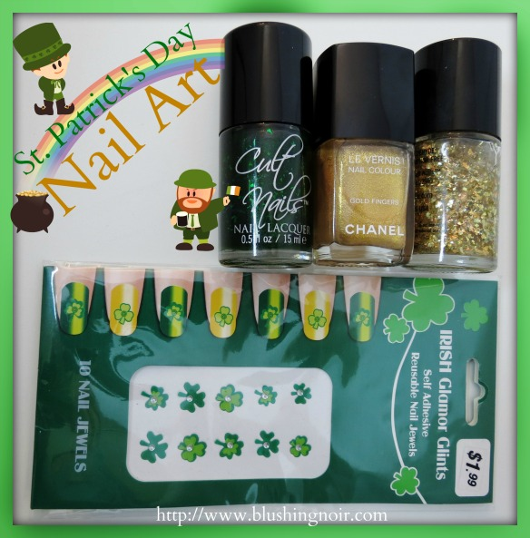 365 Days Of Nail Art March 2014: Happy St. Patrick's Day 2014! Nail Art Feat. Cult Nails