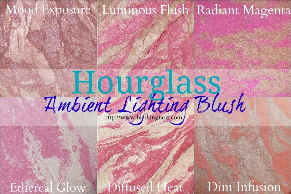Hourglass Ambient Lighting Blush Swatches Review