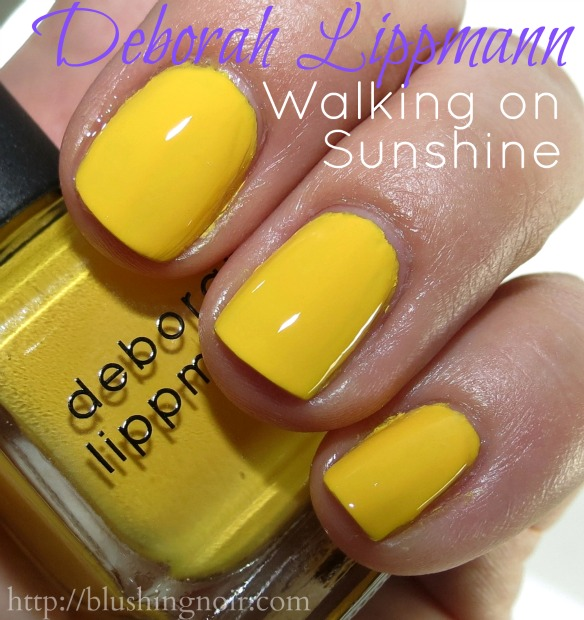 Deborah Lippmann Walking On Sunshine Nail Polish Swatches