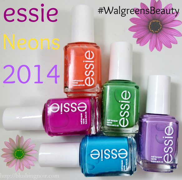 Essie Neons Nail Color Swatches #WalgreensBeauty #shop