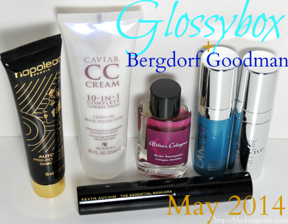 Glossybox Bergdorf Goodmann May 2014 Swatches Review