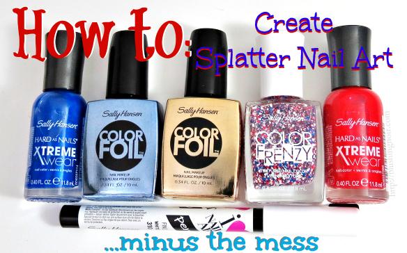 How to Create Splatter Nail Art #MySummerLook #CollectiveBias