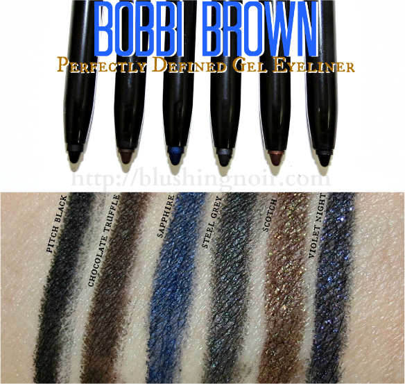Bobbi Brown Perfectly Defined Gel Eyeliner Swatches