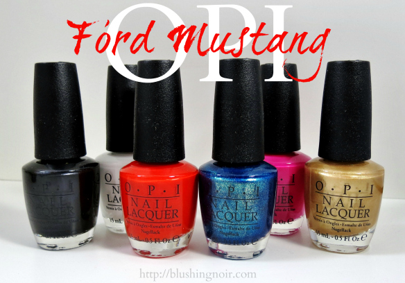 OPI Ford Mustang Swatches Review
