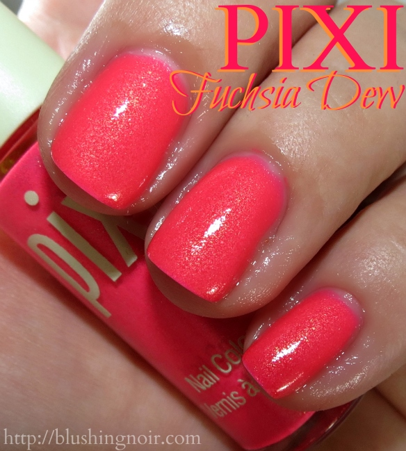Pixi Fuchsia Dew Nail Polish Swatches
