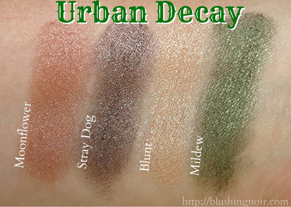 Urban Decay Eyeshadow Swatches