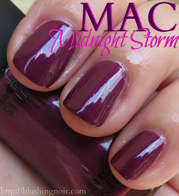 MAC Midnight Storm Nail Polish Swatches shade - Blushing Noir