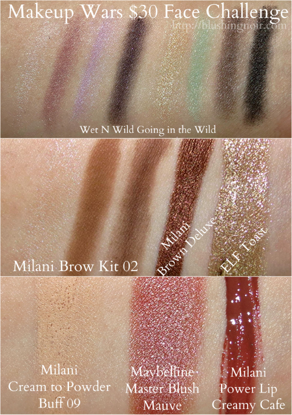 Makeup Wars $30 Face Challenge Swatches