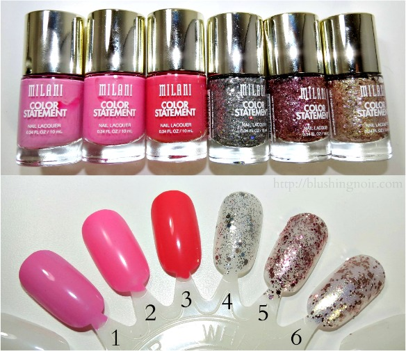 Milani Color Statement Nail Polish swatches 2