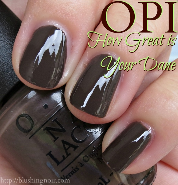 OPI How Great is your Dane Nail Polish Swatches