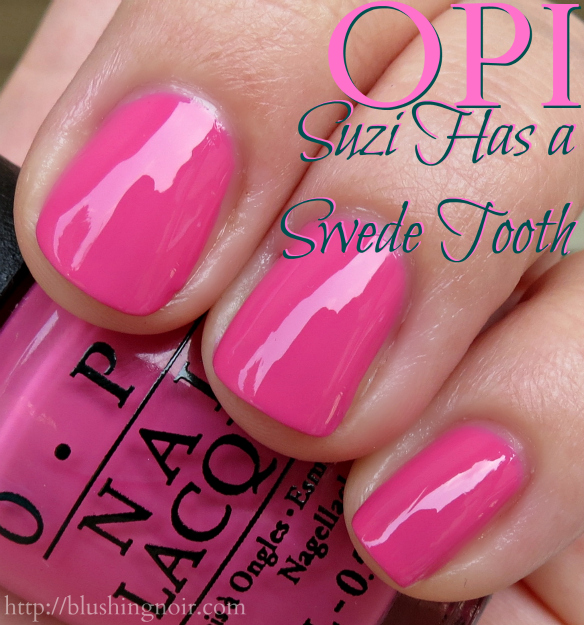 OPI Suzi Has a Swede Tooth Nail Polish Swatches