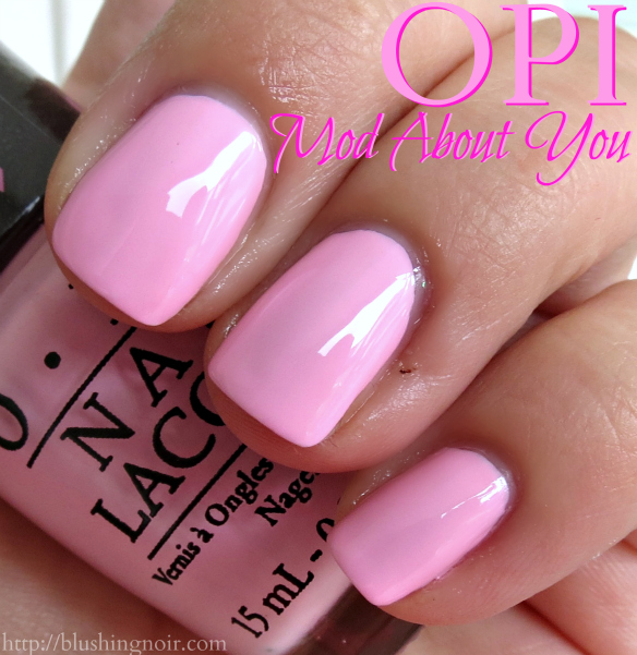 Opi Pink Shimmer Nail Polish: OPI Mod About You, The Power Of Pink Nail Polish Swatches