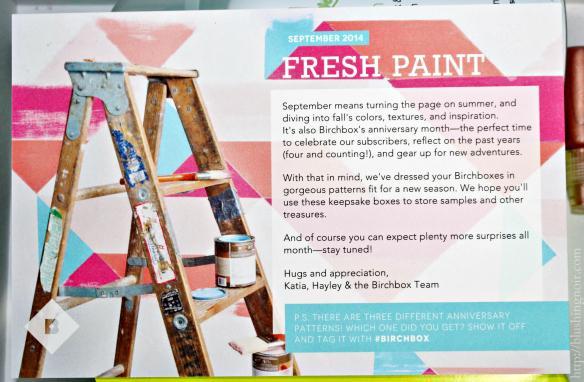 September 2014 Fresh Paint Birchbox