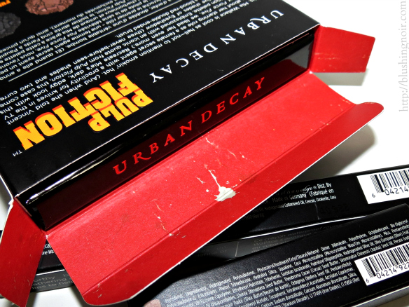 Urban Decay Pulp Fiction Palette box packaging