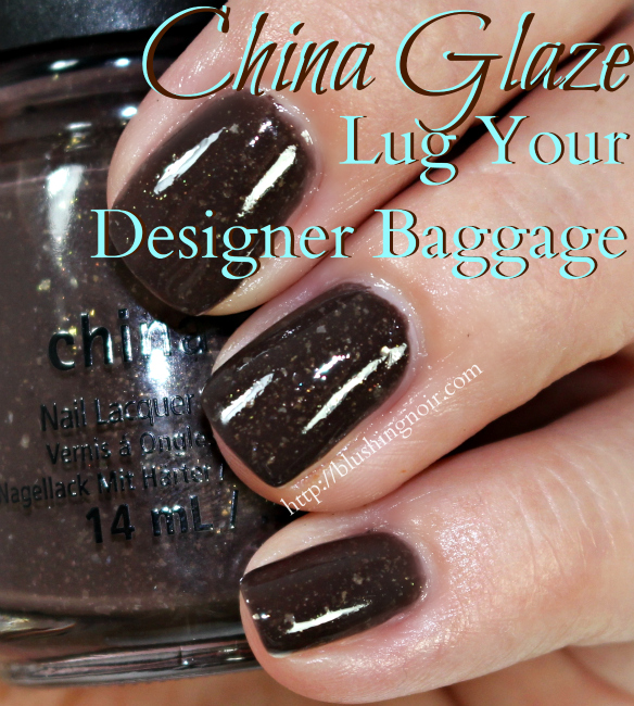 China Glaze Lug Your Designer Baggage Nail Polish Swatches