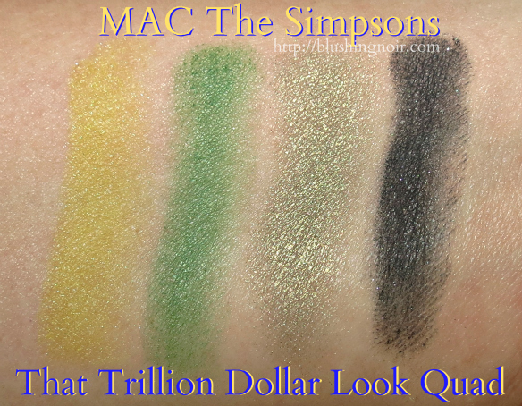 MAC That Trillion Dollar Look Quad Swatches #MACxMarge