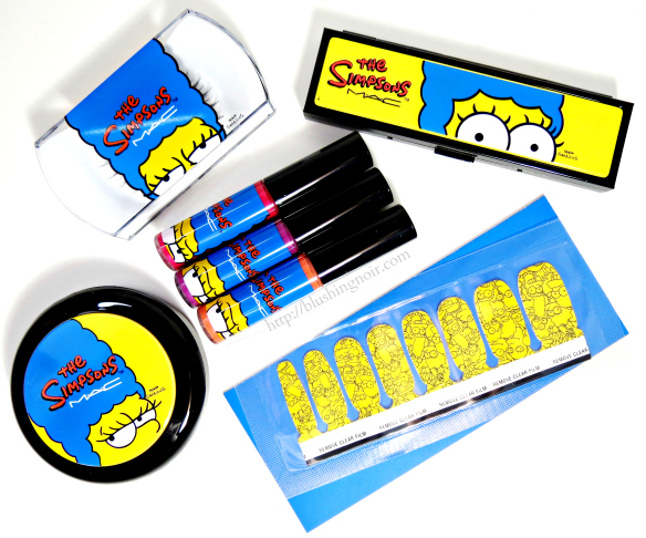MAC The Simpsons Collection Swatches Review #MACxMarge