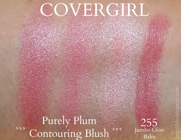 COVERGIRL Purely Plum Contouring blush swatches