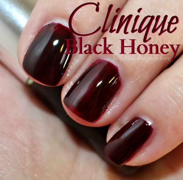 Black Nail Polish Swatch: Clinique A Black Honey Affair All About Shadow Palette