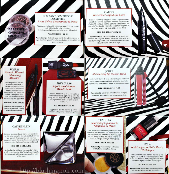 Glossybox Holiday 2014 goodies