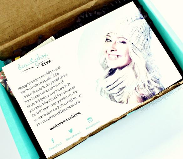 December 2014 Beauty Box 5 Merry & Bright