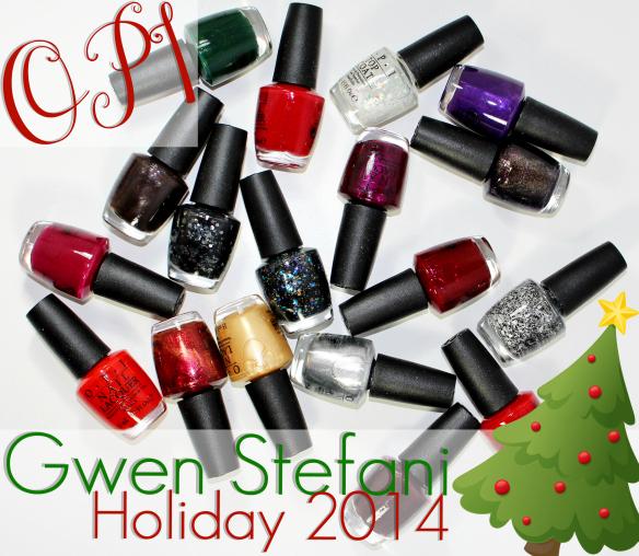 OPI Gwen Stefani holiday  2014 nail polish review swatched