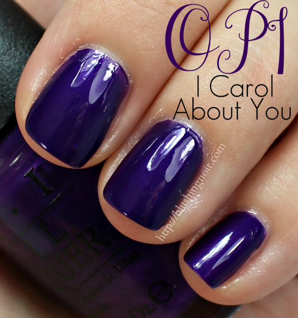 OPI I Carol About You Nail Polish Swatches