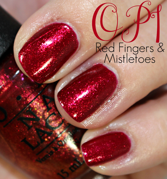 Red Nail Polish On Thumb: OPI Gwen Stefani Nail Polish Collection For Holiday 2014