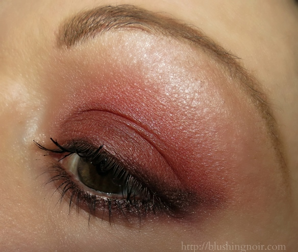 Marsala eye makeup