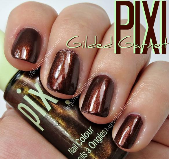Pixi Gilded Garnet Nail Polish Swatches