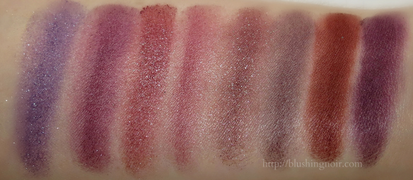 So Susan Sumptuous Smoke Eyeshadow Palette swatches