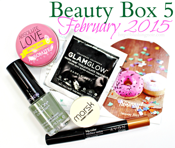 Beauty Box 5 February 2015 box review swatches