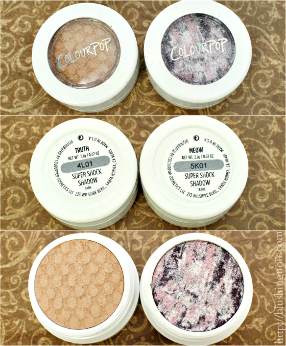 ColourPop Truth Meow Super Shock Shadow Swatches