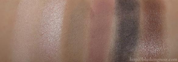 MAC Cinderella Stroke of Midnight Eyeshadow Palette Swatches