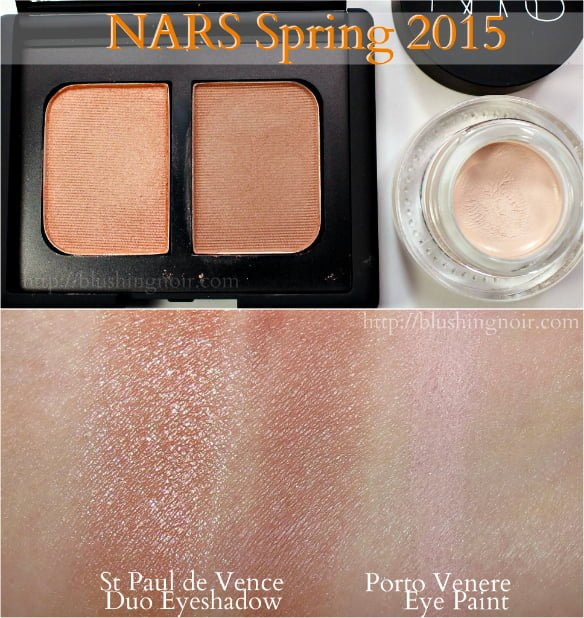 NARS Spring 2015 makeup swatches