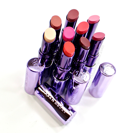 Urban Decay Sheer Revolution Lipstick Swatches Review