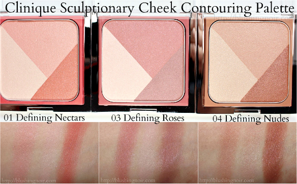 Clinique Sculptionary Cheek Contouring Palette swatches