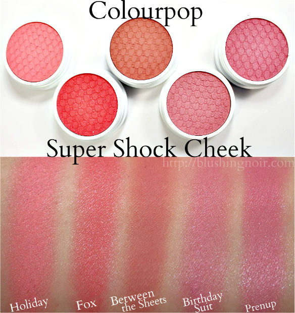 Colorpop Super Shock Cheek swatches
