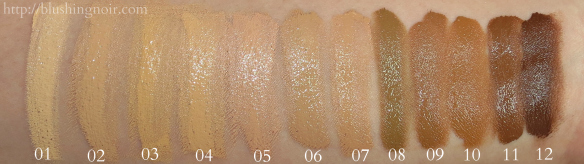 Jordana Complete Cover Foundation Swatches Blushing Noir