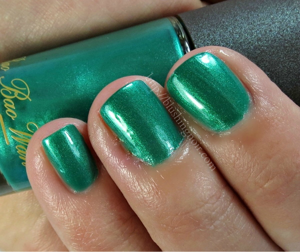 MAC Imperial Green Nail Polish Swatches