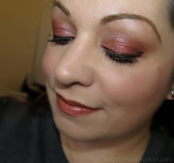 NARS Fervor Dual Intensity Blush eye look review