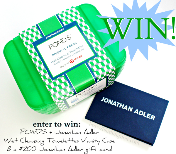 POND'S + Jonathan Adler Wet Cleansing Towelettes Vanity Case & a $200 Jonathan Adler gift card giveaway